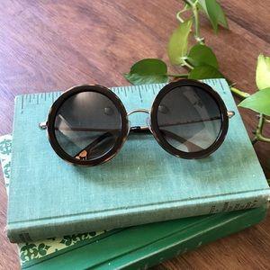 Alice & Olivia - Beverly Dark Tortoise Sunglasses